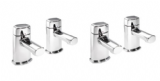 Pegler Opal Quarter Turn Chrome Basin and Bath Tap Set